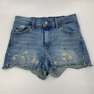 Levi's Embroidered Cutoff Shorts High Rise Denim